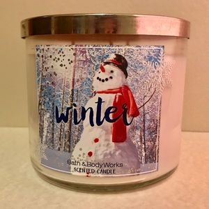 Bath & Body Works 3 Wick Winter Candle - New